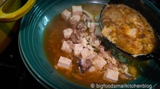 soup, poured